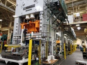 Tandem Line Automation AP & T Speed Feeder and Toledo Press Control Upgrade on Clearing Double Action