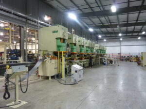 AP&T Dual Mono Bar Servo Transfer in a Coil Fed Nine Press Tandem Line
