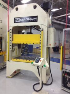 Tier 2 automotive supplier 95 Ton Gibb Guided Hydraulic Press